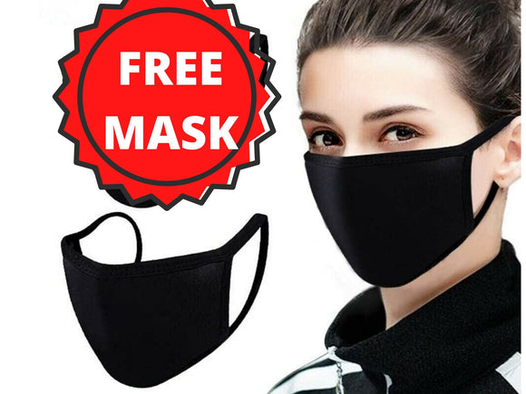 Free Cotton Face Mask Washable Reusable and Reversible