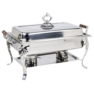 Deniza Luxury Scroll Buffet Server 8 QT. Food Warmer.-chafing dish food warmer-Free Item Online