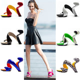 Airy S- Shaped Soleless High Heels Peep Toe Sandals Women Gladiator Fashion Summer Ladies Nightclub Sexy Shoes-women shoes-Free Item Online
