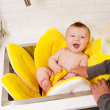 2 IN 1 Baby Lotus Plush Flower Bath And Play Mat 4 Or 7 Petals-baby bath accessory-yellow 7 petals-Free Item Online