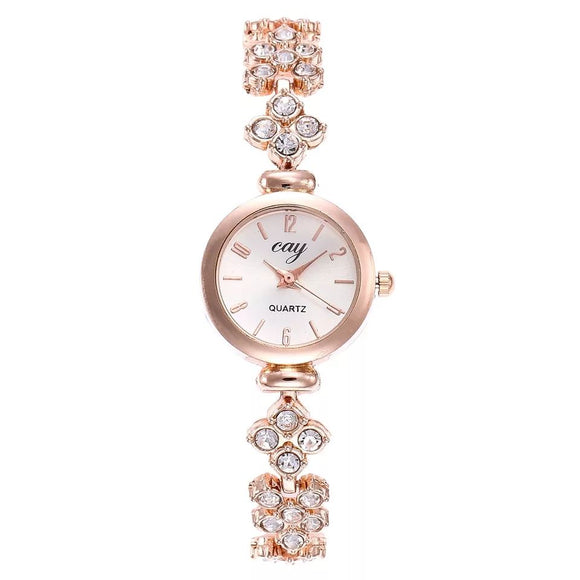 LORDINA Women's Rose Gold Wrist Watch with Rhinestones-women watch-Rose Gold-Free Item Online