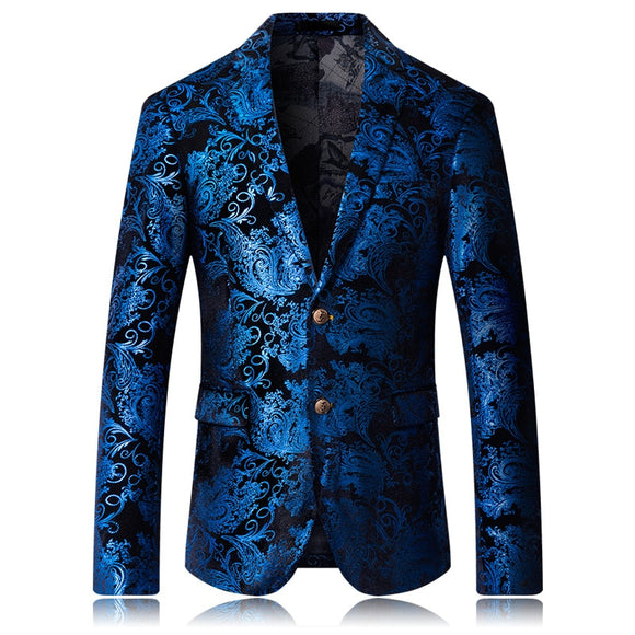 Designer men's slim suit jacket