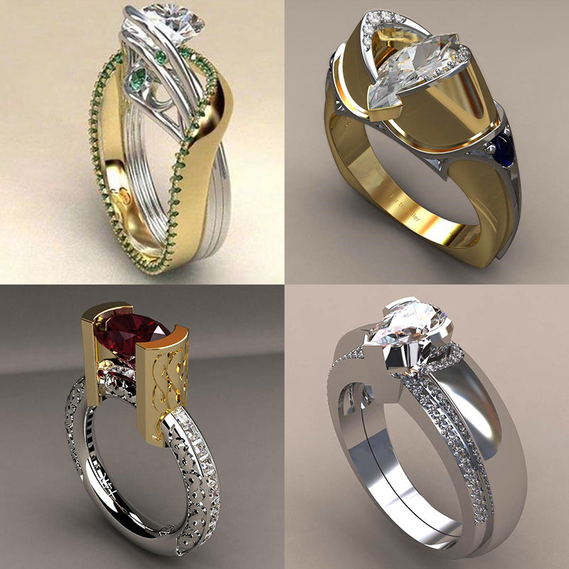 Judy Luxury Women Rings Unique Vintage Wedding Cocktail Rings