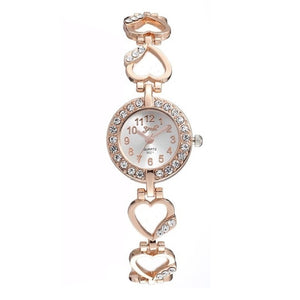Starlet Gem Luxury Bracelet Women Watch Rose Gold Diamond Ladies Silver Timepiece
