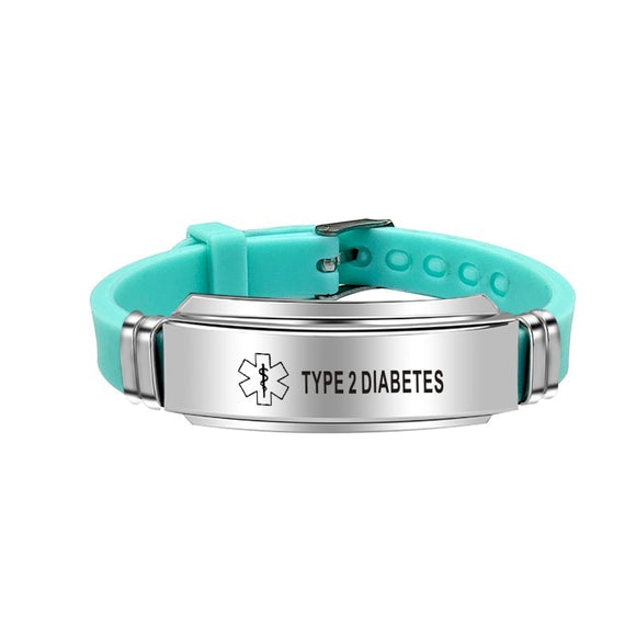 Medical Alert ID  Bracelet Bangles for Women and Men
