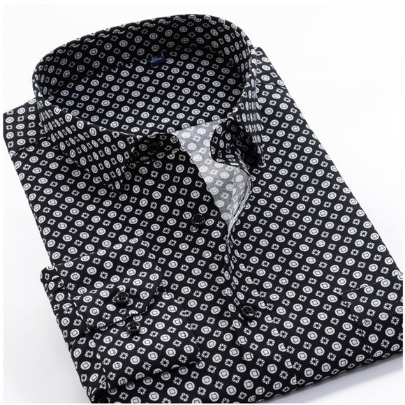 Cardez Designer Long Sleeves Men's Business Casual Fashion Classic Dress Shirt
