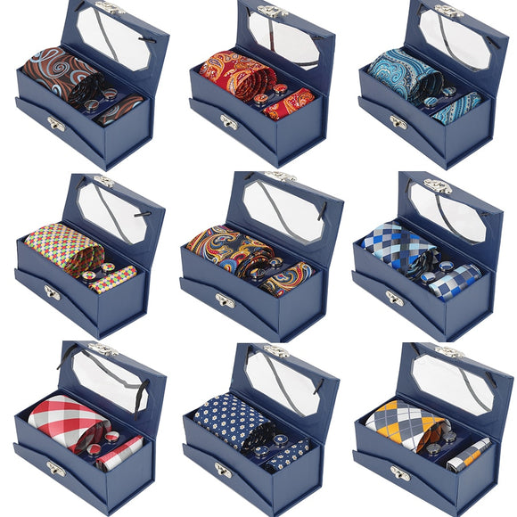 Mens Tie Set With Gift Box