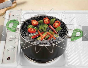 12 in 1 Stainless Steel Collapsible Chef Basket-kitchen-Free Item Online