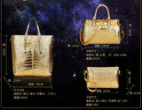 Freda 3Pcs Set Alligator Leather Women Shoulder Bag Handbag-Handbag-Free Item Online
