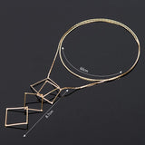 DebWol Design Stylish Y Shaped Women Choker Long Gold Necklace-Women Necklace-Free Item Online