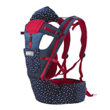 Gailis Ergonomic Multi Position Breathable Baby Carrier Sling With Infant Hipseat-baby carrier-navy star 1-OneSize-Free Item Online