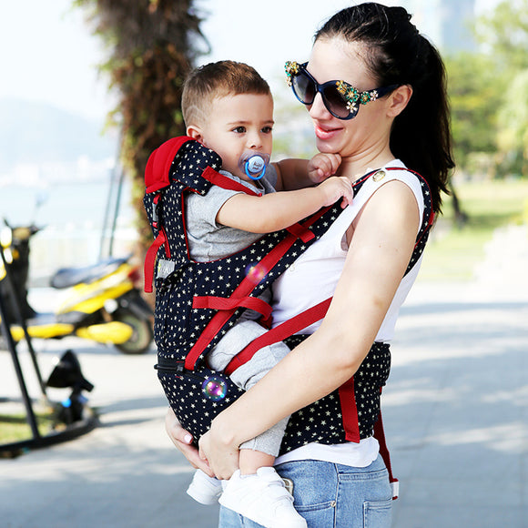 Gailis Ergonomic Multi Position Breathable Baby Carrier Sling With Infant Hipseat-baby carrier-main image-OneSize-Free Item Online