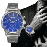 Men's Stainless Steel Quartz Wrist Watch-men accessories-Free Item Online