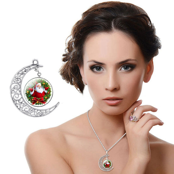 Gailis Santa Claus Photo Christmas Gift Chain Statement Necklaces ( More Designs)-christmas jewelry-Free Item Online