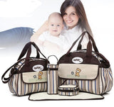 Baby Diaper Nappy Bag Fashion Maternity Mummy Handbag-BABY-Brown-Free Item Online