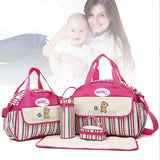 Baby Diaper Nappy Bag Fashion Maternity Mummy Handbag-BABY-Rose-Free Item Online