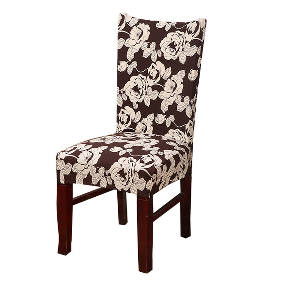 Floral Slipcovers Spandex Elastic Chair Covers Wedding Dinning-Chair Covers-Free Item Online