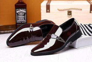 Designer Men Oxford Patent leather Luxury Dress Shoes-Men Shoes-Free Item Online