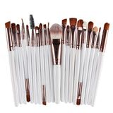 15pcs Professional Makeup Brushes Set Cosmetics Quality Beauty Tools Kits-Cosmetic Brush Set-white-Free Item Online
