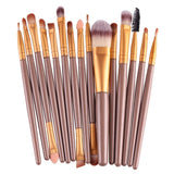 15pcs Professional Makeup Brushes Set Cosmetics Quality Beauty Tools Kits-Cosmetic Brush Set-gold-Free Item Online
