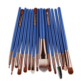 15pcs Professional Makeup Brushes Set Cosmetics Quality Beauty Tools Kits-Cosmetic Brush Set-Free Item Online