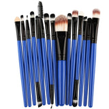 15pcs Professional Makeup Brushes Set Cosmetics Quality Beauty Tools Kits-Cosmetic Brush Set-blue-Free Item Online