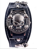 Cool Skull Leather Men fashion Sports Quartz Wrist Watch-men wrist watch-2-Free Item Online