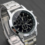 Jindy Mens classic Quartz Analog Stainless Steel Luxury Wrist Watch Fashion Sport-watches-Free Item Online