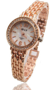 Grandel Women's Rose Gold Bracelet Crystal Wrist Watch-womens wrist watch-Free Item Online