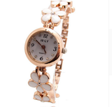 Grandel Women's Rose Gold Bracelet Crystal Wrist Watch-womens wrist watch-5-Free Item Online