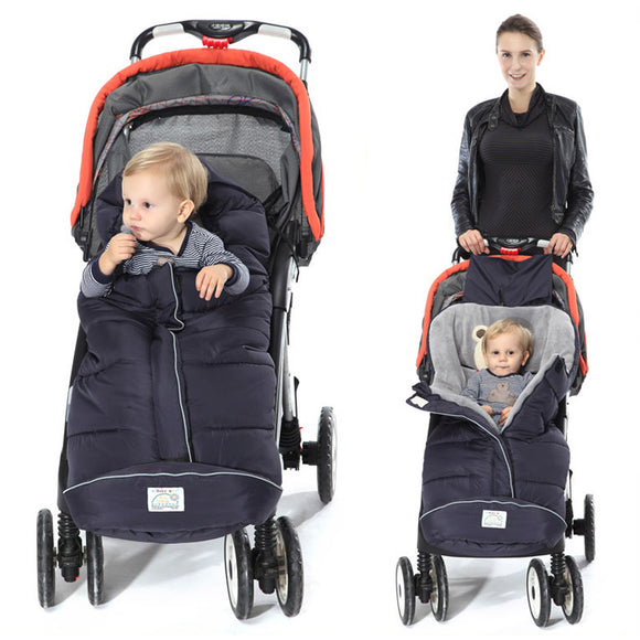 Doodle Winter Baby Stroller Sleeping Bags With Footmuffs-baby sleep bag with footmuff-Free Item Online