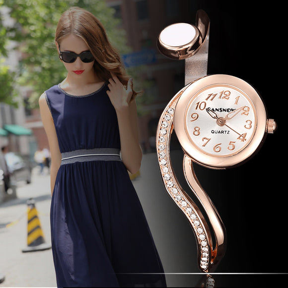Gailis S - Shaped Wrist Watch Women Ultra Thin Bangle Bracelet-Women Wrist Watch-Free Item Online