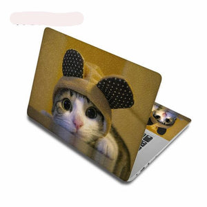 Computee Cute Cat Pattern Stickers Laptop Skin Removable Notebook stickers PC Decal-computer skins-Free Item Online