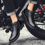 Bondanie Genuine Leather Men Motorcycle Boots-Men Shoes-Free Item Online