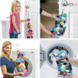 Dannex 4 in 1 Socks Wash Storage and Clothes Organizer Adjustable Non-slip Hanging Loop-socks hanger and organizer-Free Item Online