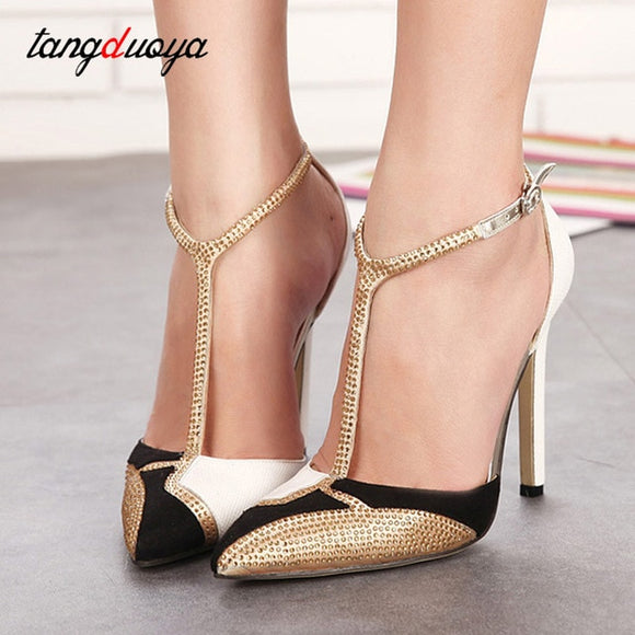 ladies shoes pumps women high heels pointed toe stilettos