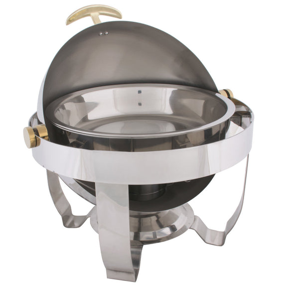 Round Food Warmer Roll Top 6.5QT Stainless Steel-chafer-Free Item Online
