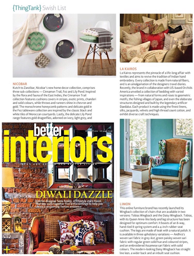 Better Interiors | October 2016 Issue | Tropics Orange Tobias Wingback