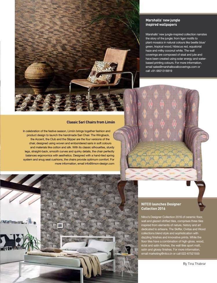 Home & Design TRENDS | November 2016 | Ikat Grey Tobias Wingchair