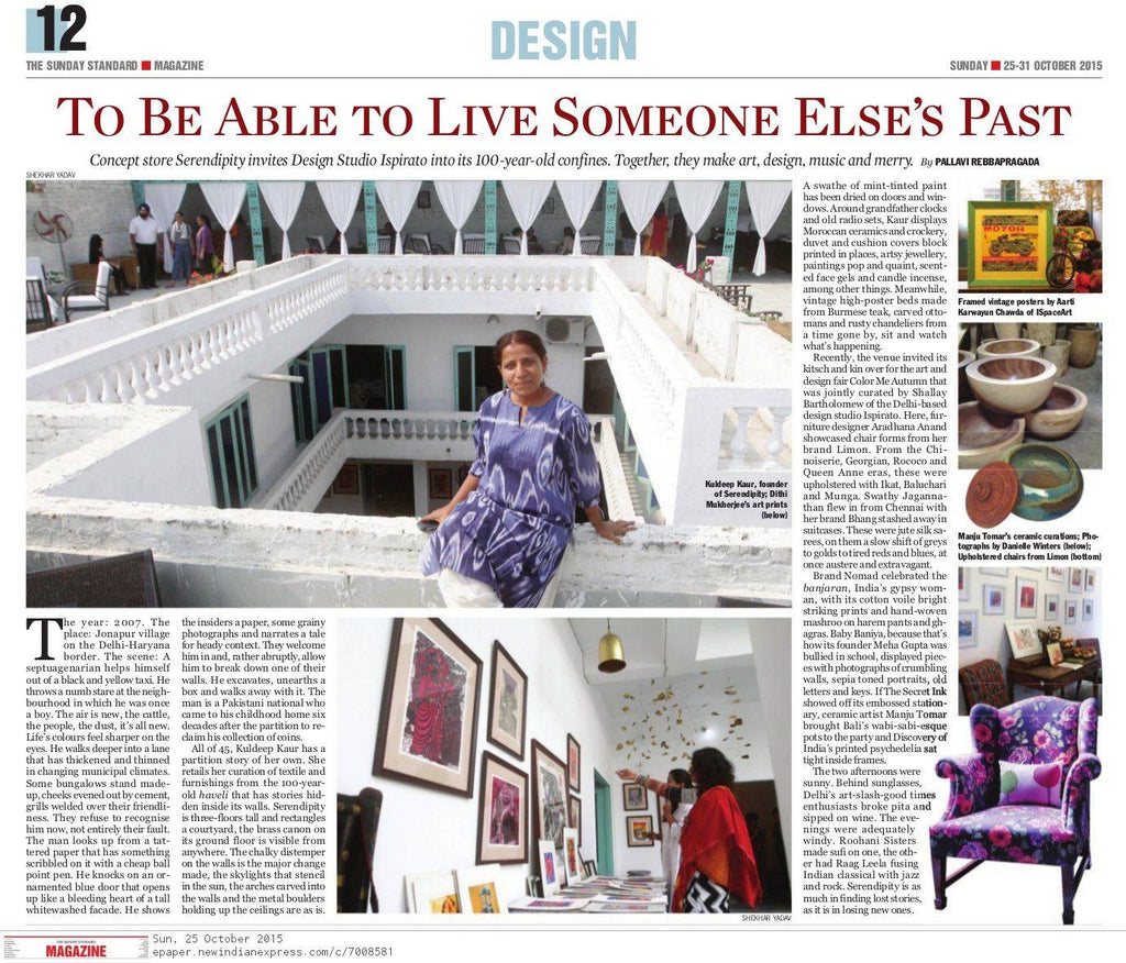 The New Indian Express | Sunday Edition | 25-31 October | Coverage of the Colour Me Autumn Festival held at Serendipity Delhi and of our chairs.