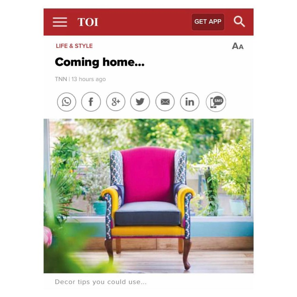 The Times of India | Christmas Day special, December 25th, 2016 | Magenta/Grey Tobias Wingback