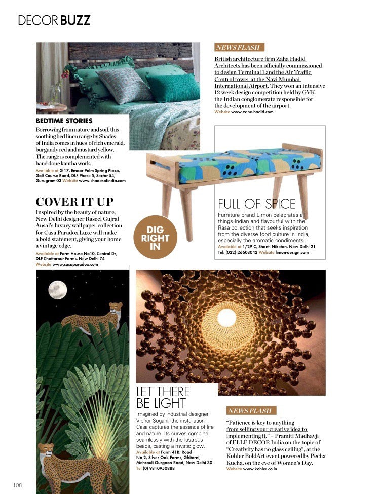Elle Decor India | April - May 2018 | Rasa