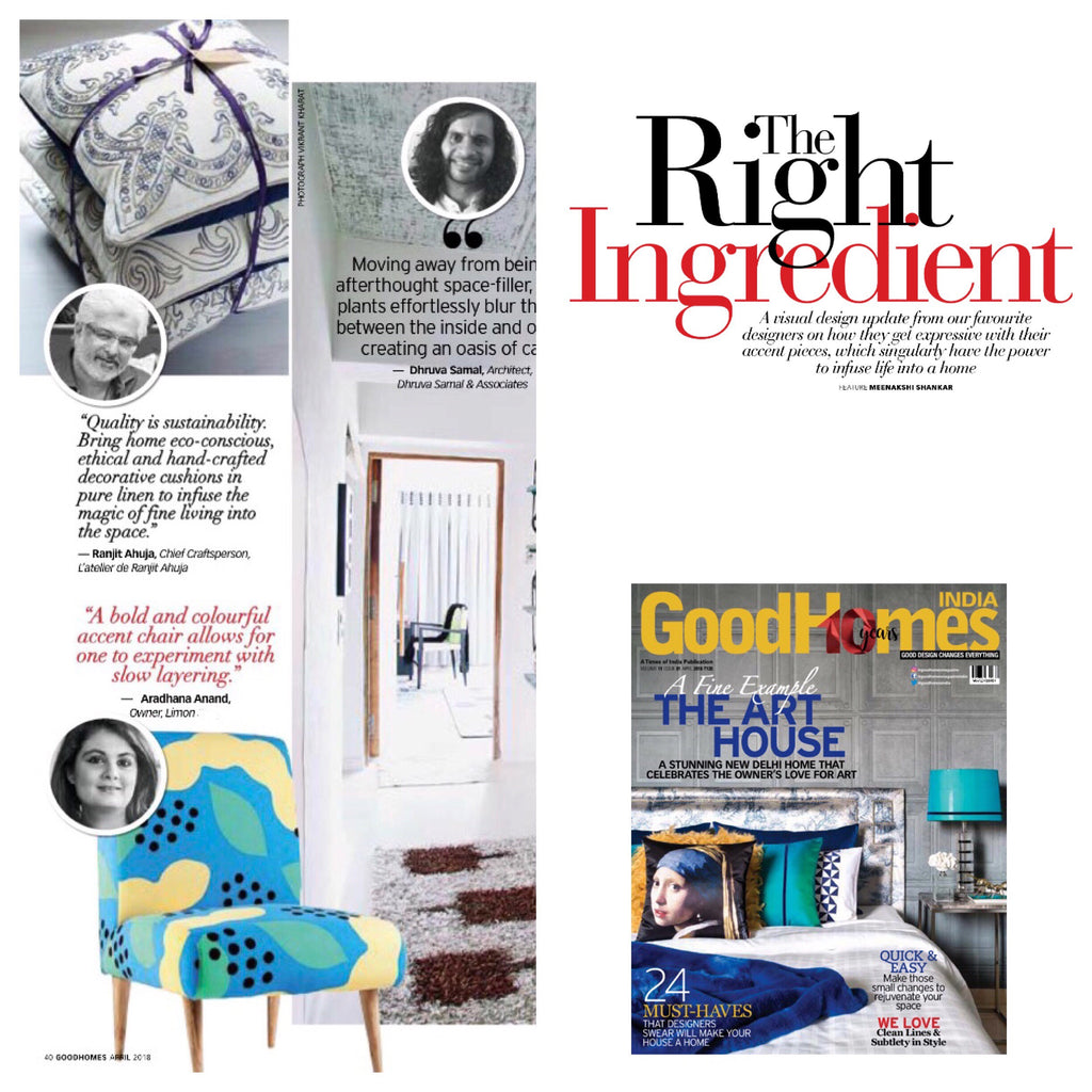 GoodHomes India | March 2018 issue | The Right Ingredient