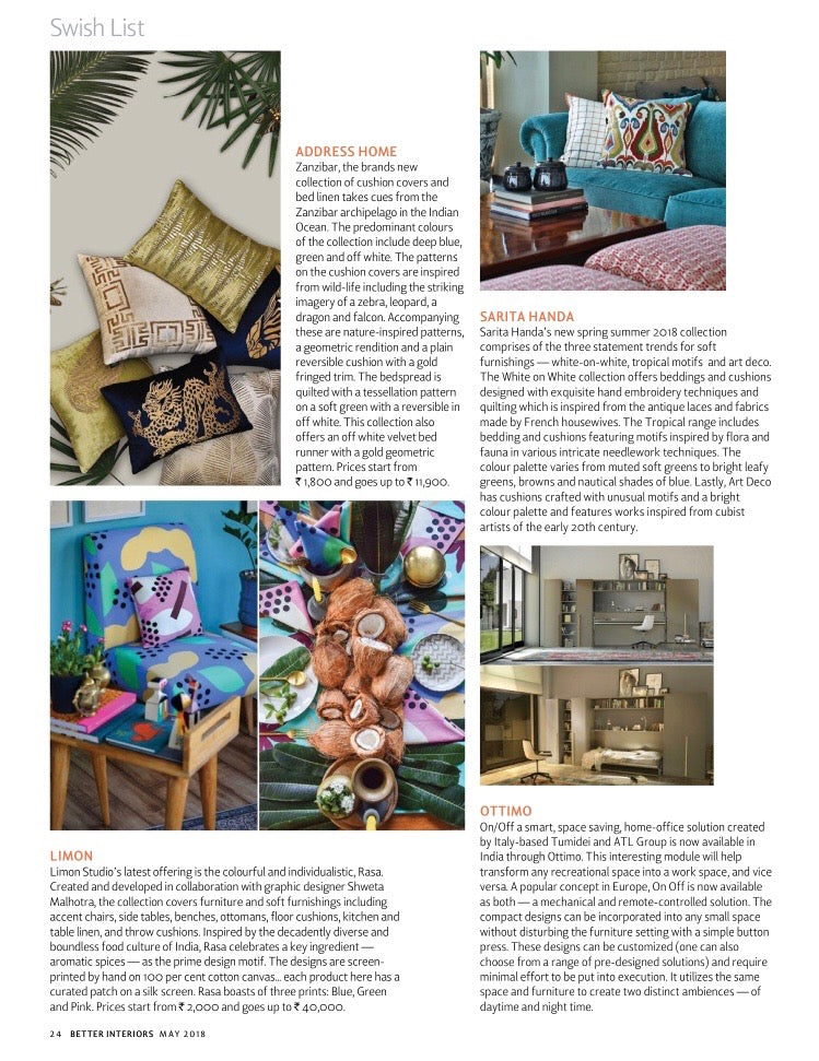 Better Interiors | May 2018 | Rasa
