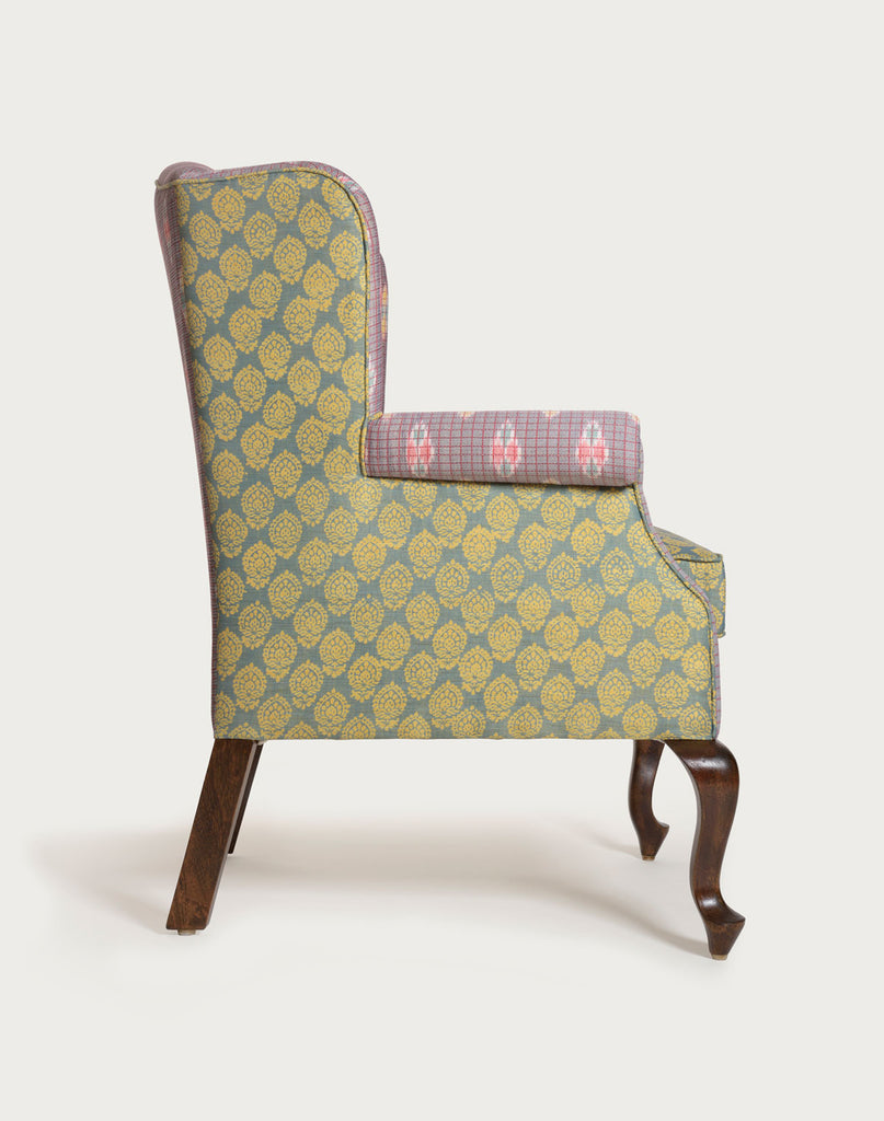 The Tobias Wingback | Ikat Grey