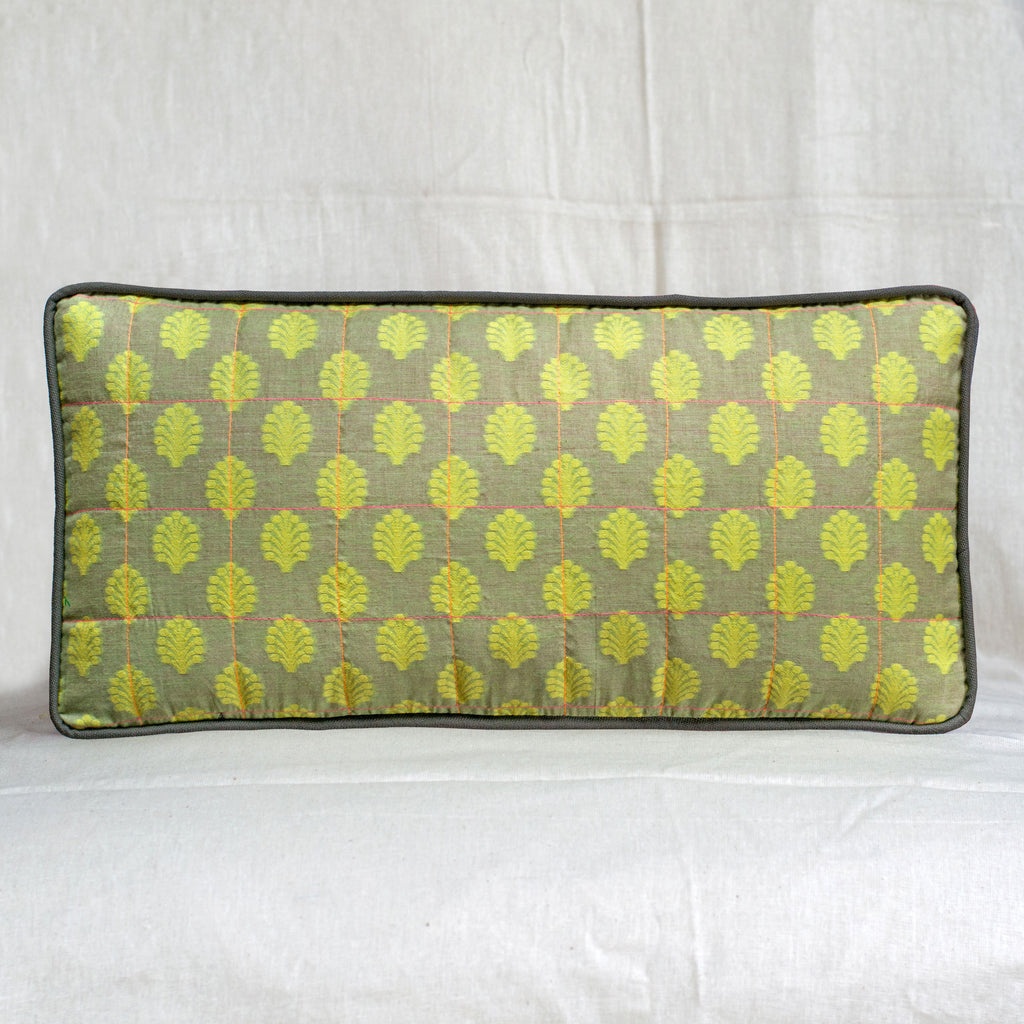 Neon Green | Rectangle Cushion