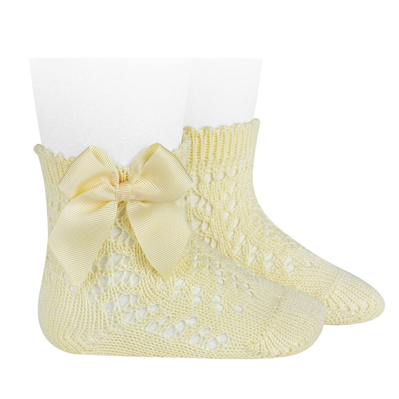 CONDOR Mantequil Openwork Short Socks With Bow