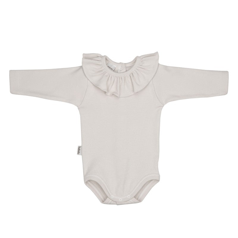 Babidu Cream Frill Collar Bodysuit