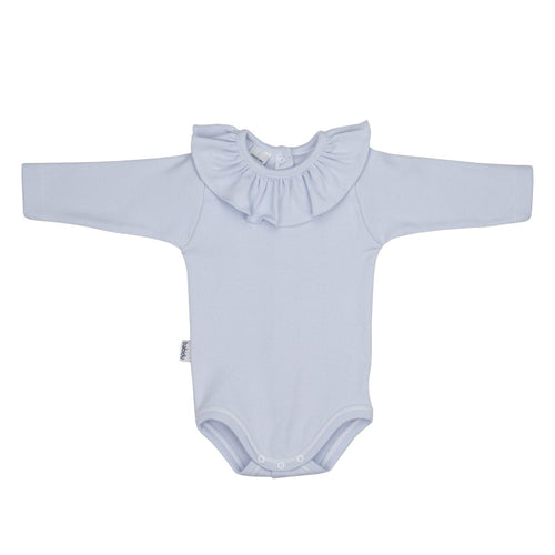 Babidu Blue Frill Collar Bodysuit