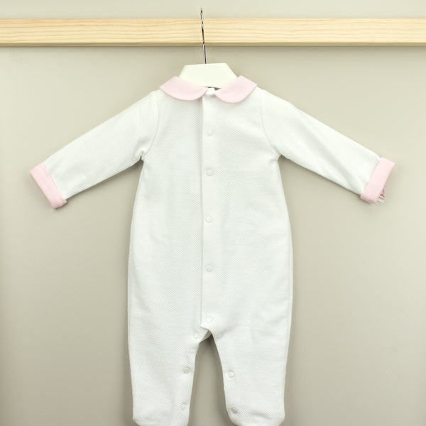 BABIDU White Cotton Babygrow